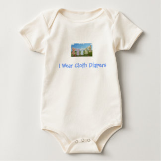 I Wear Cloth Diapers - Go Green! Baby Bodysuit