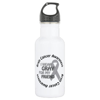 I Wear Gray For My Friend Brain Cancer Awarenes 532 Ml Water Bottle