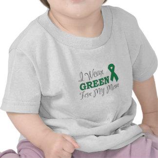I Wear Green For My Mom Green Awareness Ribbon T-shirt