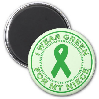 I Wear Green For My Niece 2 Inch Round Magnet