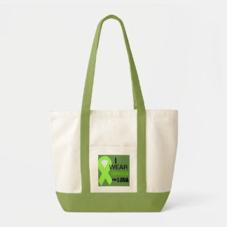 I wear green for my pet with Lymphoma Tote Bag
