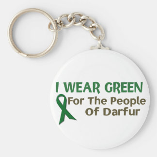 I Wear Green For The PEOPLE OF DARFUR Keychain