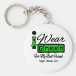I Wear Green Ribbon (Retro) - Best Friend Key Chains