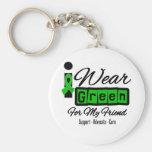 I Wear Green Ribbon (Retro) - Friend Keychain