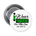 I Wear Green Ribbon (Retro) - Son 2 Inch Round Button