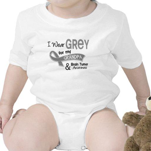I Wear Grey 42 Grandpa Brain Tumor Shirt