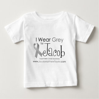 I Wear Grey for Jacob Baby T-Shirt