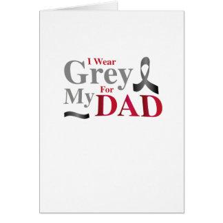 I Wear Grey For My Dad Brain Cancer Awareness Gift Card