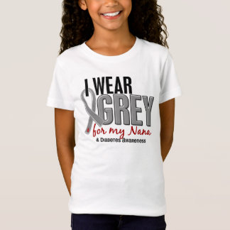 I Wear Grey For My Nana 10 Diabetes T-Shirt