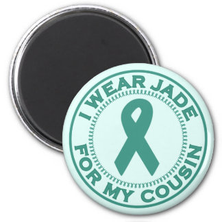 I Wear Jade For My Cousin 2 Inch Round Magnet