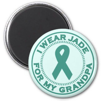 I Wear Jade For My Grandpa 2 Inch Round Magnet