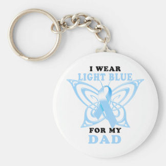 I Wear Light Blue for my Dad Key Chains