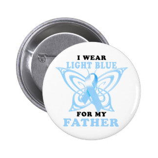 I Wear Light Blue for my Father Pinback Buttons