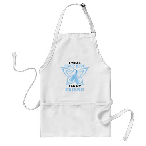 I Wear Light Blue for my Friend Aprons