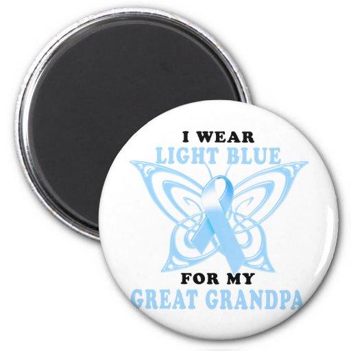 I Wear Light Blue for my Great Grandpa Fridge Magnet