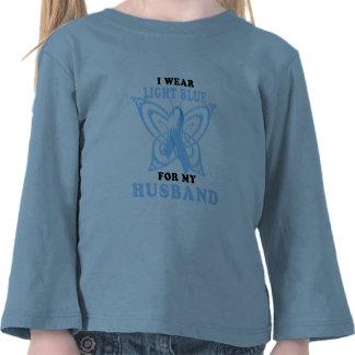 I Wear Light Blue for my Husband T Shirts
