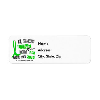 I Wear Lime Green 37 Me and My Son Lyme Disease Return Address Label
