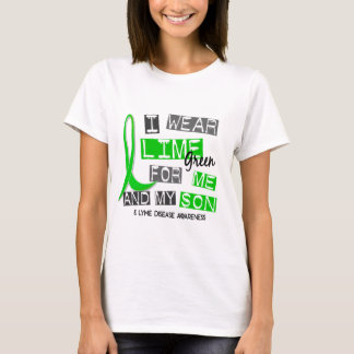 I Wear Lime Green 37 Me and My Son Lyme Disease T-Shirt