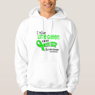 I Wear Lime Green 42 Daughter Lyme Disease Hoodie