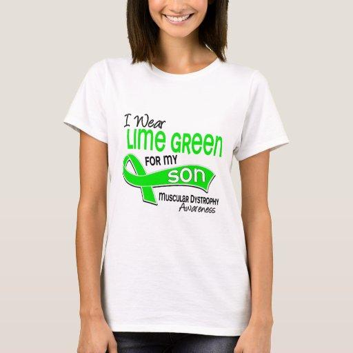 I Wear Lime Green 42 Son Muscular Dystrophy T-Shirt