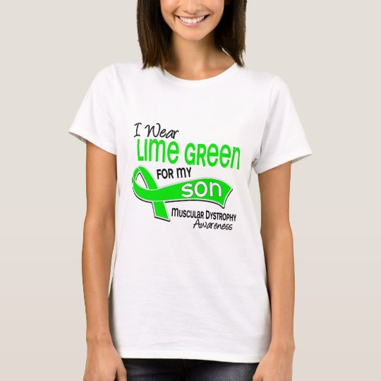I Wear Lime Green 42 Son Muscular Dystrophy T-Shirt