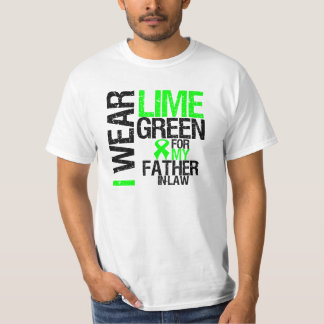 I Wear Lime Green For My Father-in-Law Lymphoma Tee Shirts