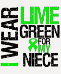 I Wear Lime Green For My Niece Lymphoma T-Shirt