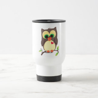 'I wear my heart on my owl' coffee to go cup