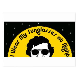 I Wear my Sunglasses at Night Postcard