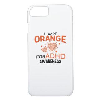 I Wear Orange For ADHD Awareness  Orange Ribbon iPhone 8/7 Case