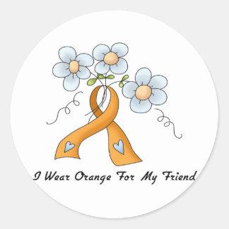 I Wear Orange For My Friend Classic Round Sticker