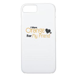 I Wear Orange for My Friend Ribbon Awareness iPhone 8/7 Case
