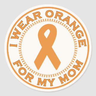 I Wear Orange For My Mom Round Sticker
