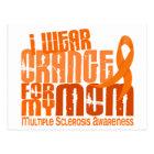 I Wear Orange Mom Multiple Sclerosis MS Postcard