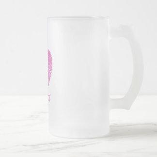 I wear Pink- A breast cancer awareness symbol Frosted Glass Beer Mug