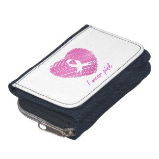 I wear Pink- A breast cancer awareness symbol Wallet