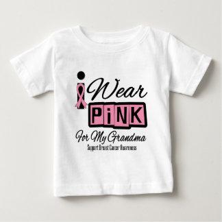 I Wear Pink Breast Cancer Grandma (Retro) Baby T-Shirt