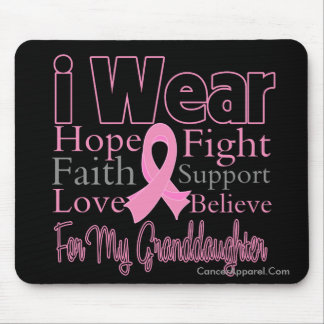 I Wear Pink Collage Granddaughter Breast Cancer Mouse Pad