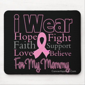 I Wear Pink Collage Mommy - Breast Cancer Mouse Pad