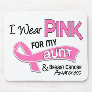 I Wear Pink For My Aunt 42 Breast Cancer Mouse Pad