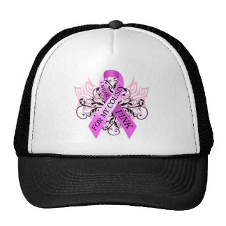 I Wear Pink for my Cousin png Trucker Hat