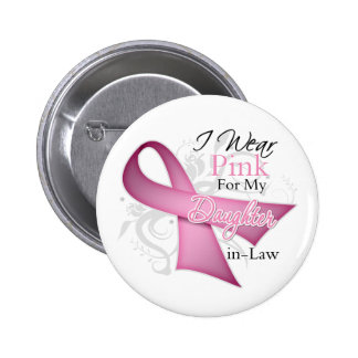 I Wear Pink For My DaughterInLaw Breast Cancer Pin