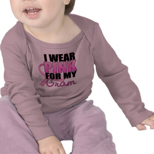 I Wear Pink for My Gram - Breast Cancer Tee Shirt