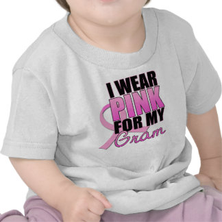 I Wear Pink for My Gram - Breast Cancer Tshirt
