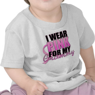 I Wear Pink for My Grammy - Breast Cancer Tee Shirt