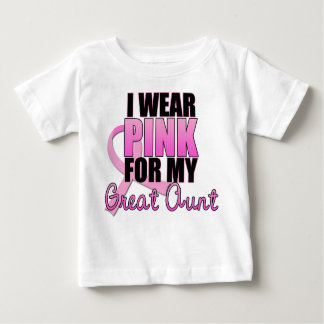 I Wear Pink for My Great Aunt - Breast Cancer T-shirts