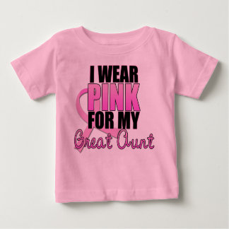 I Wear Pink for My Great Aunt - Breast Cancer Tshirt