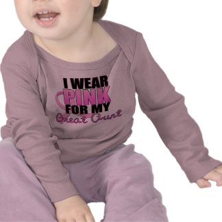 I Wear Pink for My Great Aunt - Breast Cancer Shirt