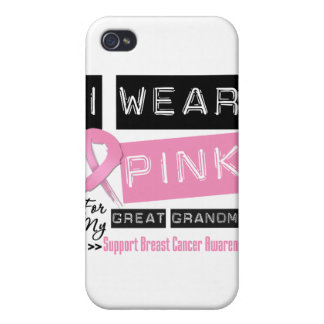 I Wear Pink For My Great Grandma Breast Cancer.png iPhone 4 Covers
