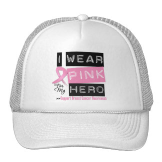 I Wear Pink For My Hero Breast Cancer.png Mesh Hats